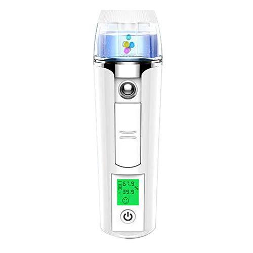 Wei Face Cool Mist Sprayer Steamer,Tragbares USB-Ladegerät zur Entgiftung von Hautverjüngungs-Nano-Feuchtigkeitsspray,White