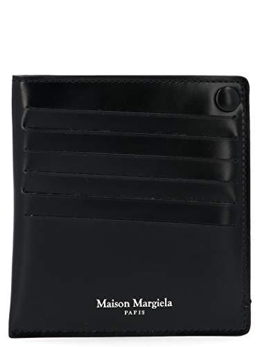 Maison Margiela Herren S55ui0201p2714t8013 Schwarz Leder Kreditkartenetui
