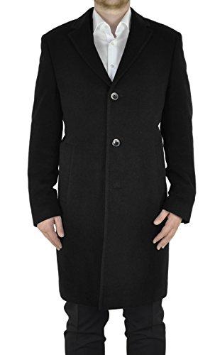 Weis - Herren Woll Mantel mit Cashmere Anteil in Anthrazit, Schwarz oder Blau Artikel Berlin (5656), Größe:46;Farbe:schwarz
