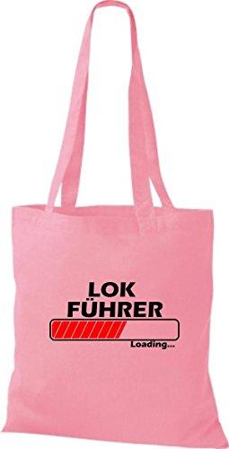 Jute Stoffbeutel Lokführer Loading viele Farben rosa