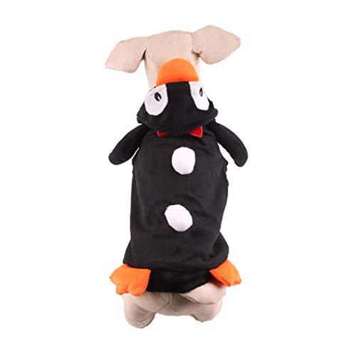 BBring Pinguin Haustier Kostüm für Katzen Hunde, Halloween Haustier Kostüm Dress Up Kapuze Nette Hunde Katze Haustier Kleidung für Hündchen Kätzchen (M, Schwarz) (Großer Hunde Pinguin Kostüm)