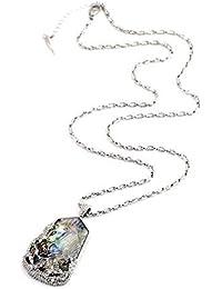 986172d0559e FUWUX Joyas Mujer Collares Colgantes Caja de Regalo Soporte para Soporte  925 Plata esterlina Los Muebles