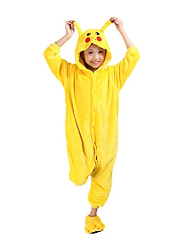 Auspicious Beginning Pikachu Kind Schlafanzüge Tier Cosplay Kostüm Baby-Body Sleepsuit Freizeitkleidung Kigurumi Pyjama