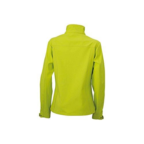 Veste contrastée en softshell femme jaune acide