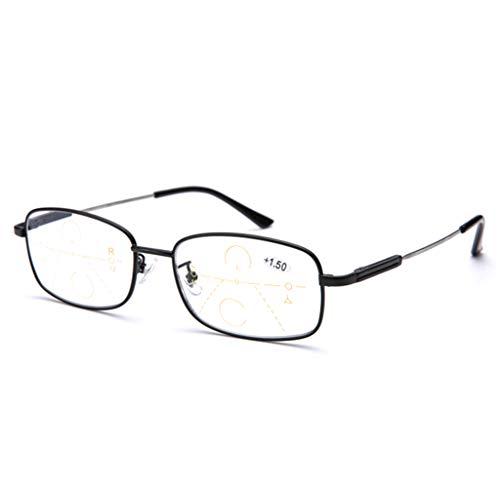 ZY Reading Glasses Ultraleichte, intelligente Multi-Focus-Lesebrille mit automatischem Zoom, Memory-Titan-Rahmen, optische und Blaue Dual-Use-Optische Anti-Blue-Light-Brille für Männer