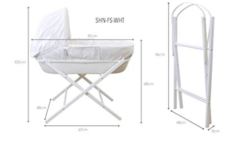 Shnuggle Moses Basket Folding Stand - White  Shnuggle Folding Stand in White Stable folding stand for moses baskets Made in the UK 2