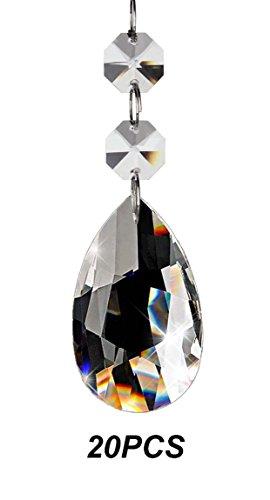 Galleria fotografica Fushing20 pezzi Candeliere in cristallo a Cremagliera di Prismi Pendenti Parti di Perline