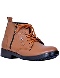 FEETWAY GENUINE LEATHER ZIP SHOES(CB.TN)