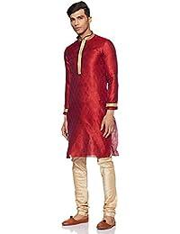 Manyavar Men's Blended Kurta & Churidar Set (SDES167)