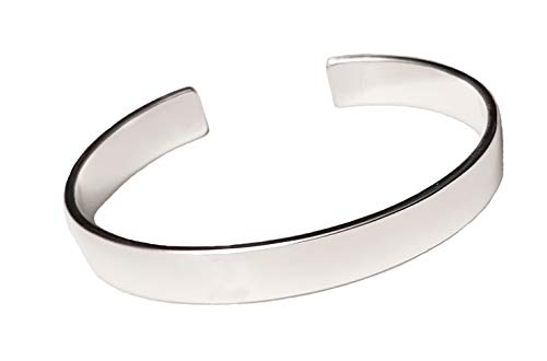 f6918b706 Men's Solid 925 Sterling Silver Bangle Bracelet - Plain silver Bracelet for  Men
