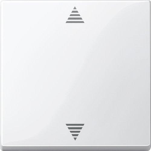 Preisvergleich Produktbild Merten 587719 Jalousie-Taster, polarweiß glänzend, System M