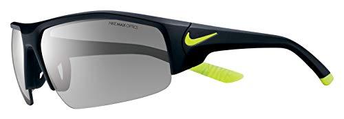 Nike Herren Skylon Ace Xv Ev0857 007 75 Sonnenbrille, Silber (Mt Blk/Volt/Gry W/SIL FL)