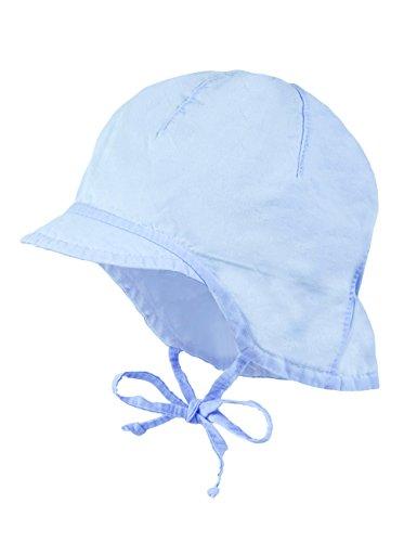 maximo Baby - Jungen Mütze Schildmütze, Nackenschutz, Blau (Cerulean 21), 43