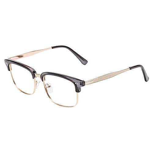 Xinvision Brillen für Männer Frauen,Metallgestell Brillengestell Klare Linse Bügel Halb Rahmen...
