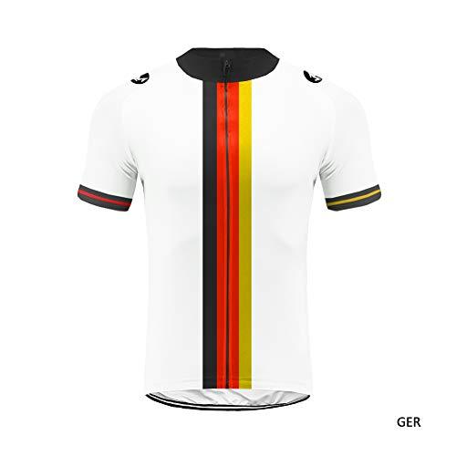 Uglyfrog+ Radtrikot Frühling Herren Kurzarm Fahrradtrikot Gemütlich Fahrradbekleidung Cube Deutsche Nationalmannschaft