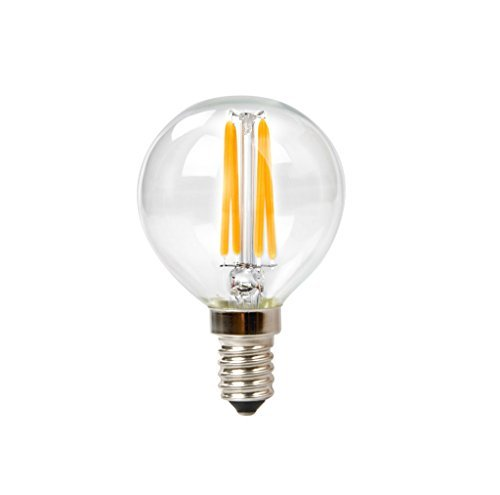 3411 3.5W Filament Vintage Led G16.5 Globe Candelabra Base Dimmable, 400 Lumens 27K Warm White = 40 Incandescent by Goodlite ()