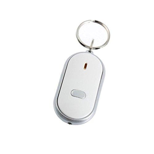 Xiton neue weiße LED Sound Control Fackel Anti-Lost Lost-Schlüssel oder Geldbörse Locator Finder Schlüsselring Whistle Beep
