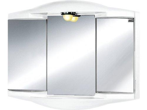 #JOKEY Spiegelschrank Chico GL Breite 62 cm, mit Beleuchtung weiß#