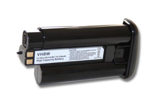 vhbw NiMH Akku 1800mAh (7.2V) für Kamera Camcorder Video Nikon D1, D1H, D1X wie Nikon EN-4.