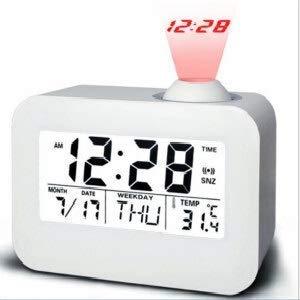 L.TSA Reloj Despertador electrónico Reloj de proyección Mesa de Escritorio electrónica Reloj de Noche...