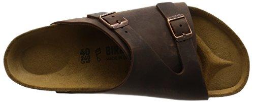 Birkenstock Zuerich 250211, Unisex - Erwachsene Sandalen Braun (Habana)