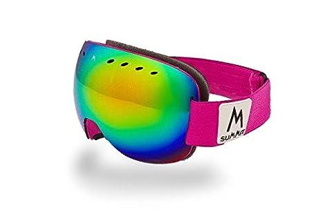 Summit Xpose I Frameless Ski/Snowboard Goggle (Electric Pink Xpose w/