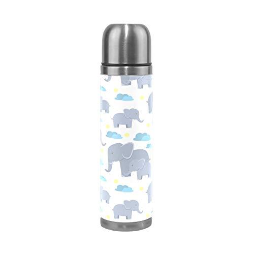 Botella de agua con diseño de elefantes y nubes de bebé, de...
