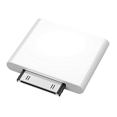 Uonlytech Mini 30 Pin Wireless Audio Bluetooth IPF01 Ricevitore Trasmettitore Adattatore Bluetooth per PC TV Cuffie Home Musica Stereo (Bianco)