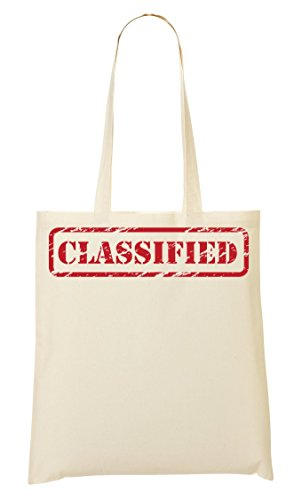 Classified Stamp Funny Bolso De Mano Bolsa De La Compra