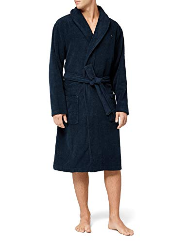 Tommy Hilfiger Icon Bathrobe, Traje de baño para Hombre, Azul (Marino) Medium