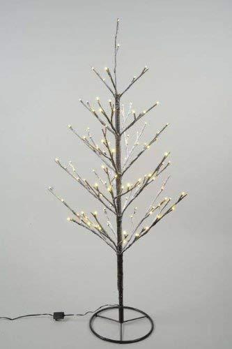Kaemingk Outdoor LED Mini Xmas Tree Warm White with Snow 90cm 120 Lights (Tree Xmas White)