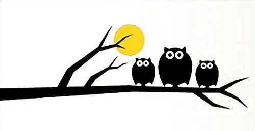 Ecloud Shop® Eulen-Karikatur-Kind-Zimmer Wandaufkleber Unsere Wandaufkleber Wandtapeten