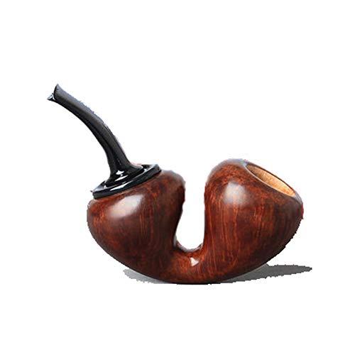 Tuyau de Tabac importation Arbre de bruyère matériel Tabac Pipe Pur Cadeau Fait à la Main de Tube incurvé Style Pipe de Tabac