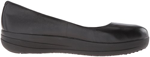 Fitflop  F-sporty Ballerina Leather, Ballerines plates femme All-black