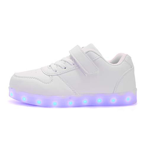 Farbe USB Auflade Leuchtend Sportschuhe, Kinder Jungen Mädchen Unisex Multi-Color-Blink LED Sneaker.Ostern ()