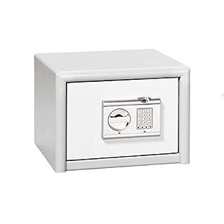 Burg-Wächter Sicherheitsschrank mit elektronischem Zahlenschloss und Fingerscan, Sicherheitsstufe S 2, Combi-Line CL 10 E FS, Weiß