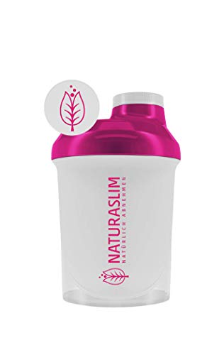 Naturaslim Eiweiß Shaker, BPA-frei, einfache Reinigung 300ml magenta