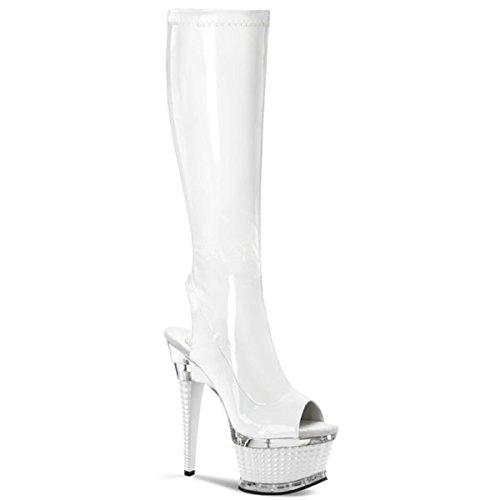 Heels-Perfect, Stivali donna Bianco (Weiss (weiß))