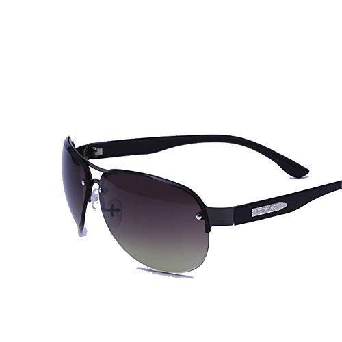 Männer und Frauen Metall Sonnenbrillen Männer Angeln Fahrradfahren Outdoor Sports Brillen Sonnenbrillen Brille (Farbe : Schwarz, Größe : Free Size)
