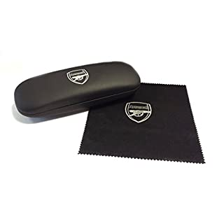 Arsenal FC Gift Glasses Case - Microfibre Cloth Official AFC Crest Logo in White Print