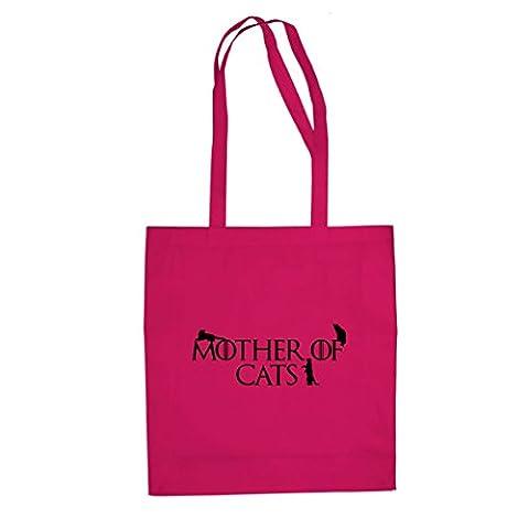 Mother of Cats - Stofftasche / Beutel, Farbe: pink (Internet Meme Kostüm)