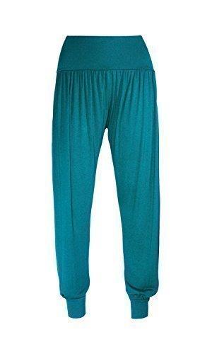 womens-ali-baba-legging-ladies-full-length-baggy-hareem-trouser-pant-8-10-12-14-uk-12-14-m-l-teal