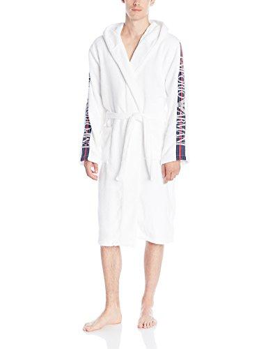 Preisvergleich Produktbild Emporio Armani Underwear Herren Bademantel 1107996P591, Gr. Large, Weiß (BIANCO 00010)