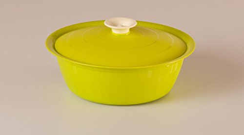 Cutting Edge Daffodil Classic Serving Dish, Set of 1, 1.8 Litre, Trendy Green  available at amazon for Rs.200