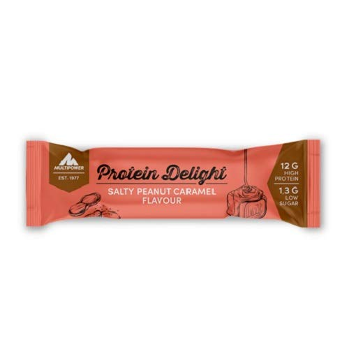 Karamell-protein (Multipower Protein Delight Eiweißriegel - 18 x 35 g Protein Riegel Box (630 g) - Leckerer Energieriegel - Salty Peanut Caramel)