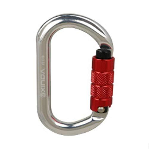 LLXYM O-Typ Automatische Sperre Outdoor-Klettern Hauptschloss Sicherheit Master Lock Karabiner Schnell Hängende Sperre Ausrüstung,2,11.2Cm*6.1Cm (Master Outdoor-sperren)