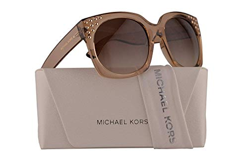 Michael Kors MK2067 Destin Sunglasses Light Brown Crystal w/Smoke Gradient Lens 56mm 334313 MK 2067