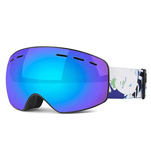 Coniea Motorradbrille Retro Brillenträger TPU Skibrille Jugendliche Sport Sonnenbrillen Blau