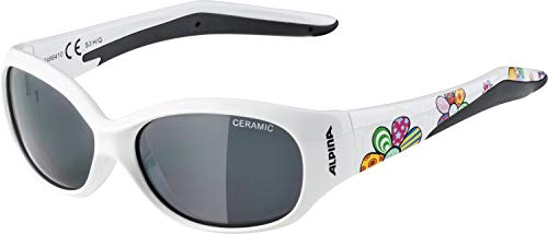 Alpina Kinder Sonnenbrille Line FLEXXY white flower, One Size