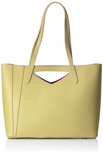 Chicca Borse Damen 8610 Schultertasche, 40x38x14 cm Giallo (Yellow)